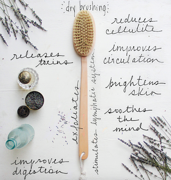 What is dry body brushing?